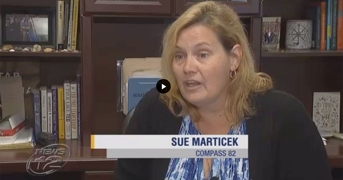 Sue Marticek in Florida after Hurricane Florience