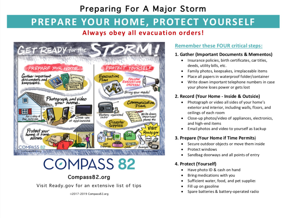Preparing for a Major Storm, Compass 82 Tipsheet 2019